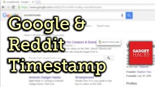See Timestamps for Visited Links on Google & Reddit [How-To]