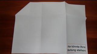 Pläne richtig falten - nach DIN 824 (A2) mit Heftrand