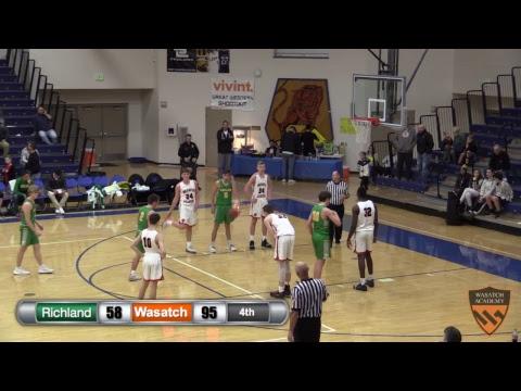Boys Varsity Basketball: Richland vs Wasatch Academy