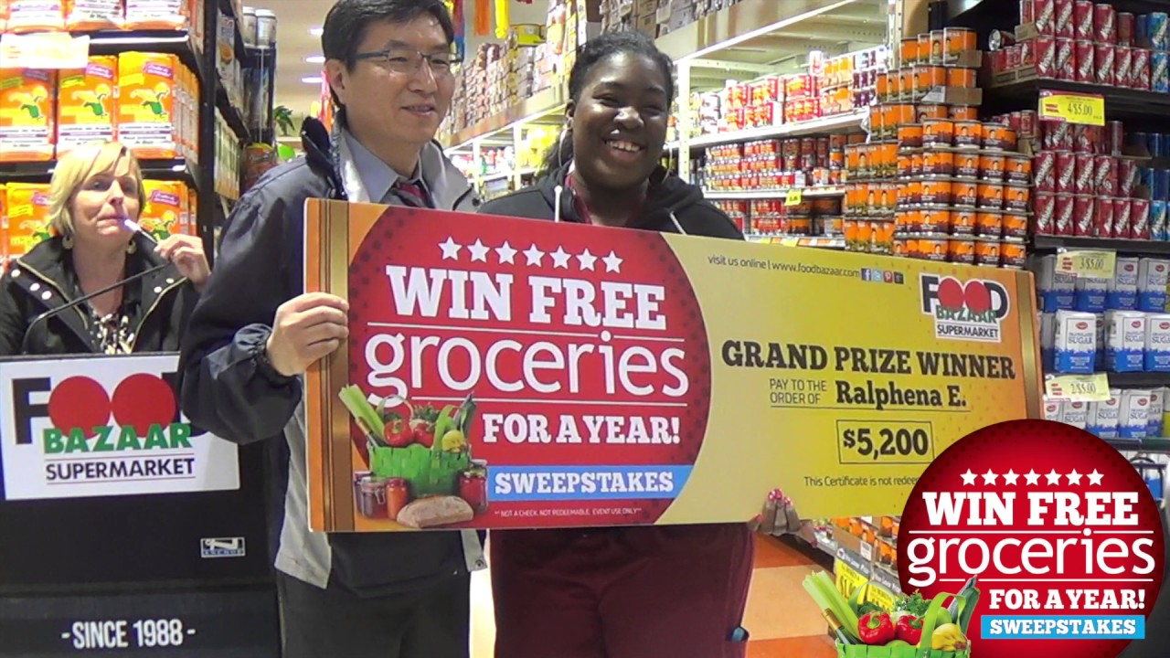 Grand Prize Winner -WIN FREE GROCERIES FOR A YEAR SWEEPSTAKES 2017