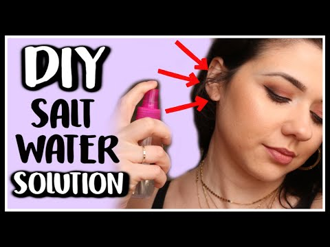 DIY SALT WATER SOLUTION FOR PIERCINGS - EXACT WATER TO SALT RATIO!