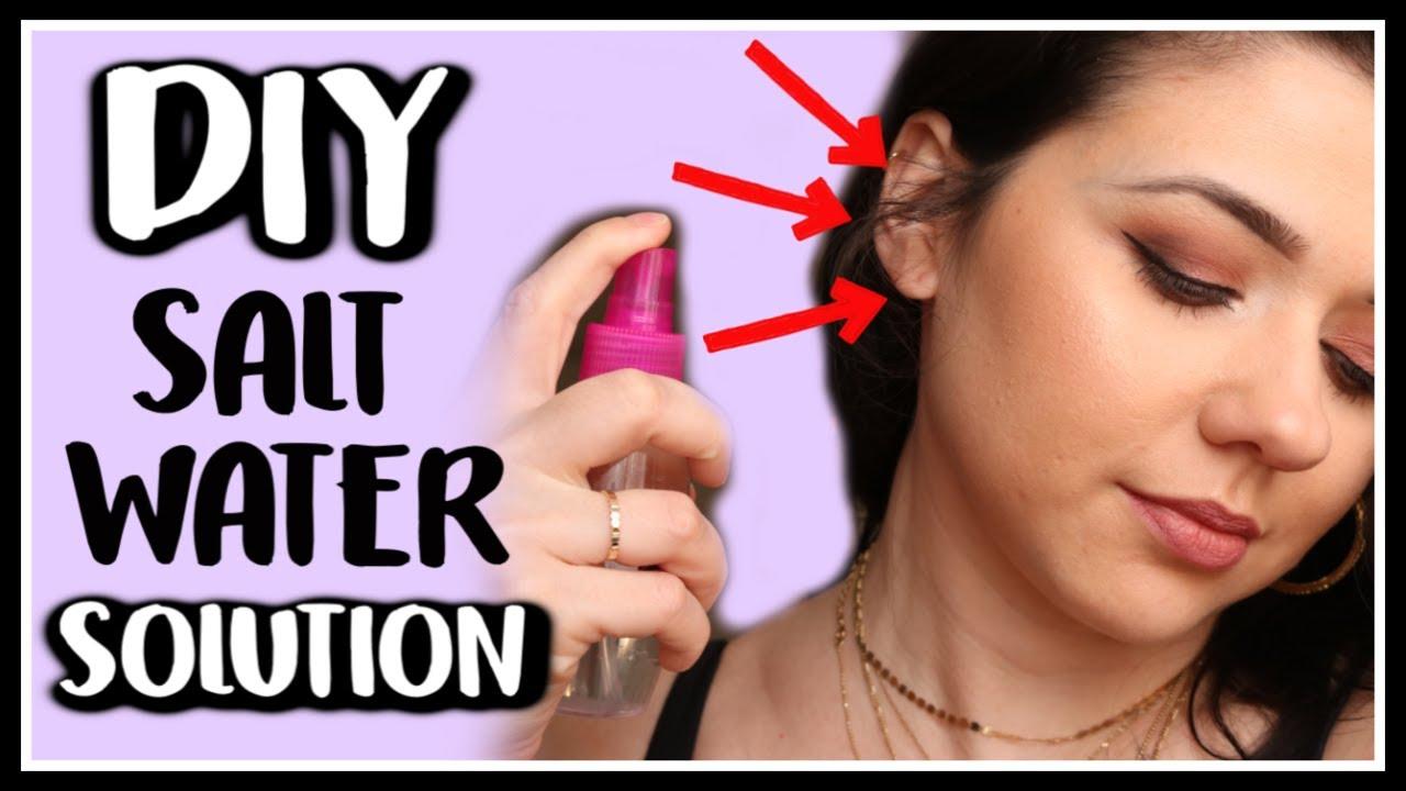 Diy Salt Water Solution For Piercings Exact Water To Salt Ratio Youtube