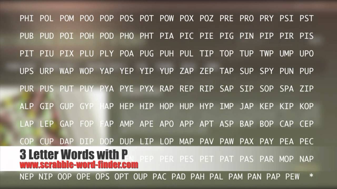 3 letter words with P   YouTube