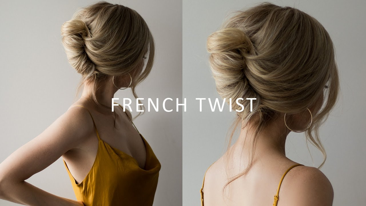 How To French Roll Updo Hairstyle