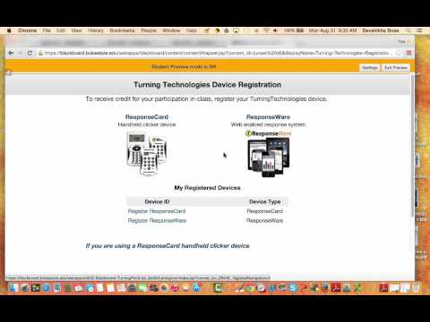 How to register a Turning Technologies Clicker on Blackboard