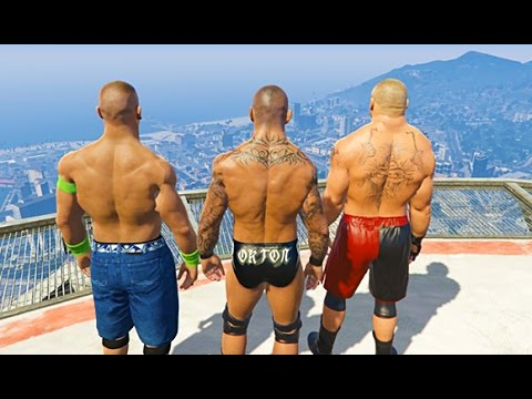 GTA 5 Randy Orton John Cena Compilation #three (GTA 5 WWE Fails Humorous Moments)