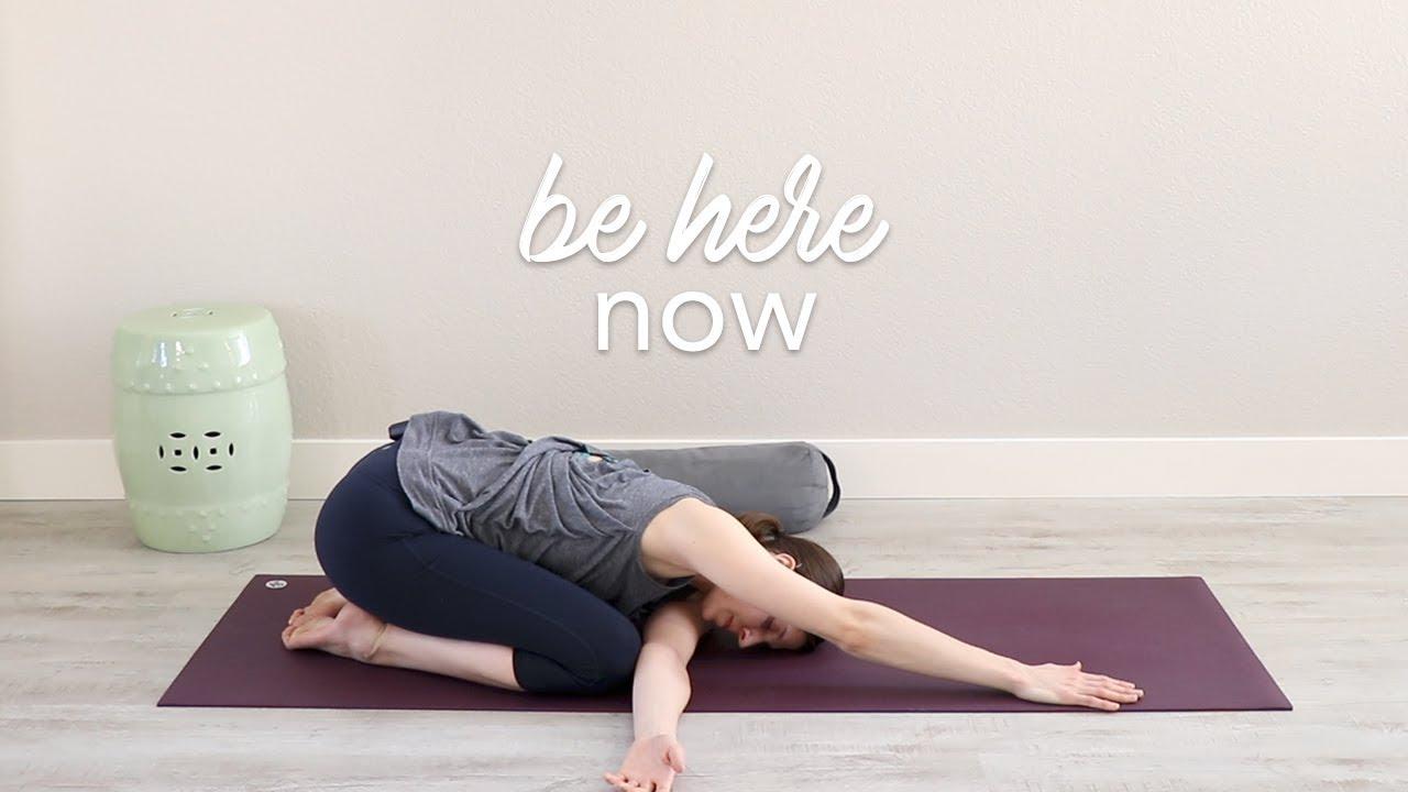 Be Here Now | Vinyasa Yoga and Meditation - YouTube