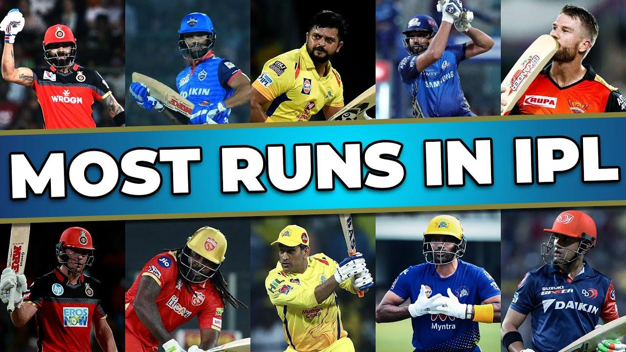 Top 10 Most Runs in IPL History | Highest Run Scorer in IPL History | IPL Batting Records