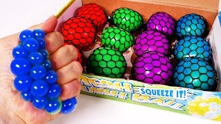 Learn Colors with Squishy Stress Balls for Children