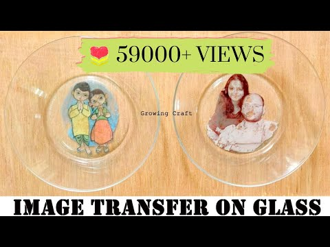 350. Image Transfer On Glass Plate♥Photo Transfer ♥image Transfer Decoupage