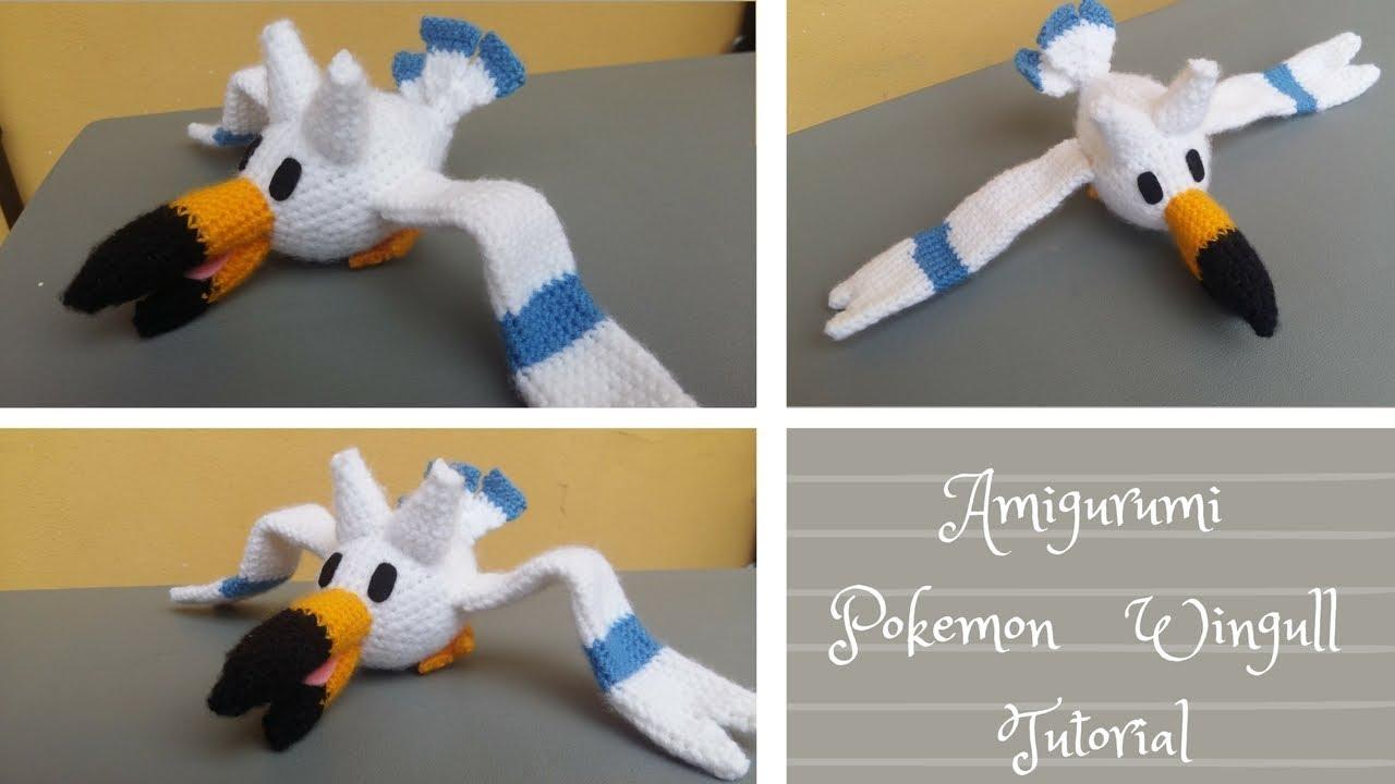 Amigurumi Tutorial Gratis : Amigurumi pokemon wingull tutorial schema gratis youtube