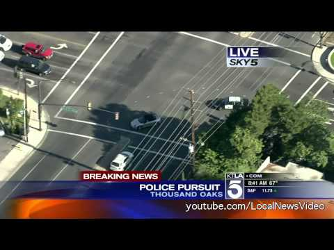 Police Chase - Thousand Oaks, CA - April 19 2013