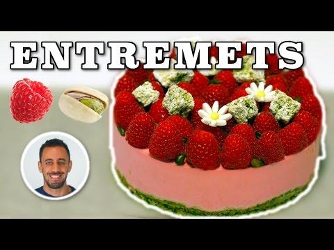 ✌-entremet-framboise-pistache-★-recette-gateau-facile-✌