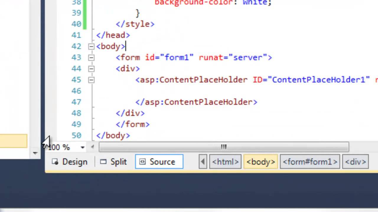 how to create a website in asp net 2010