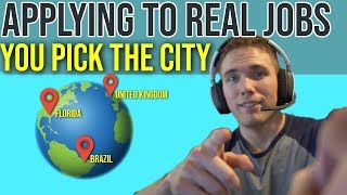 🔴 Applying to Jobs Live - Viewers Pick The City | Job Position!   | @joshuafluke on socials