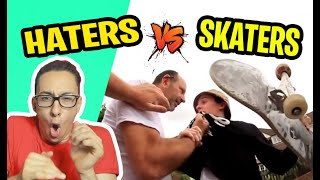 REACTION HATERS VS SKATERS...