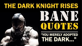 Bane Quotes | From The Dark Knight Rises | That Would Strike Fear Even In Batman | Deadly Combo