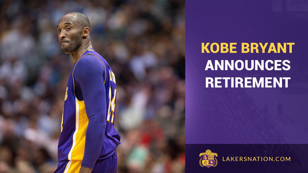 698a5deb8870 Kobe Bryant Announces His Retirement After 20th NBA Season - YouTube