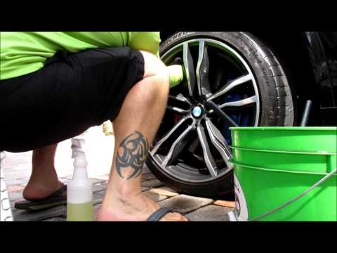 BMW X5 M DEEP WHEEL CLEANING RINSELESS WASH