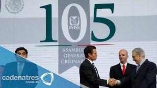El presidente Enrique Peña Nieto destaca la labor del IMSS
