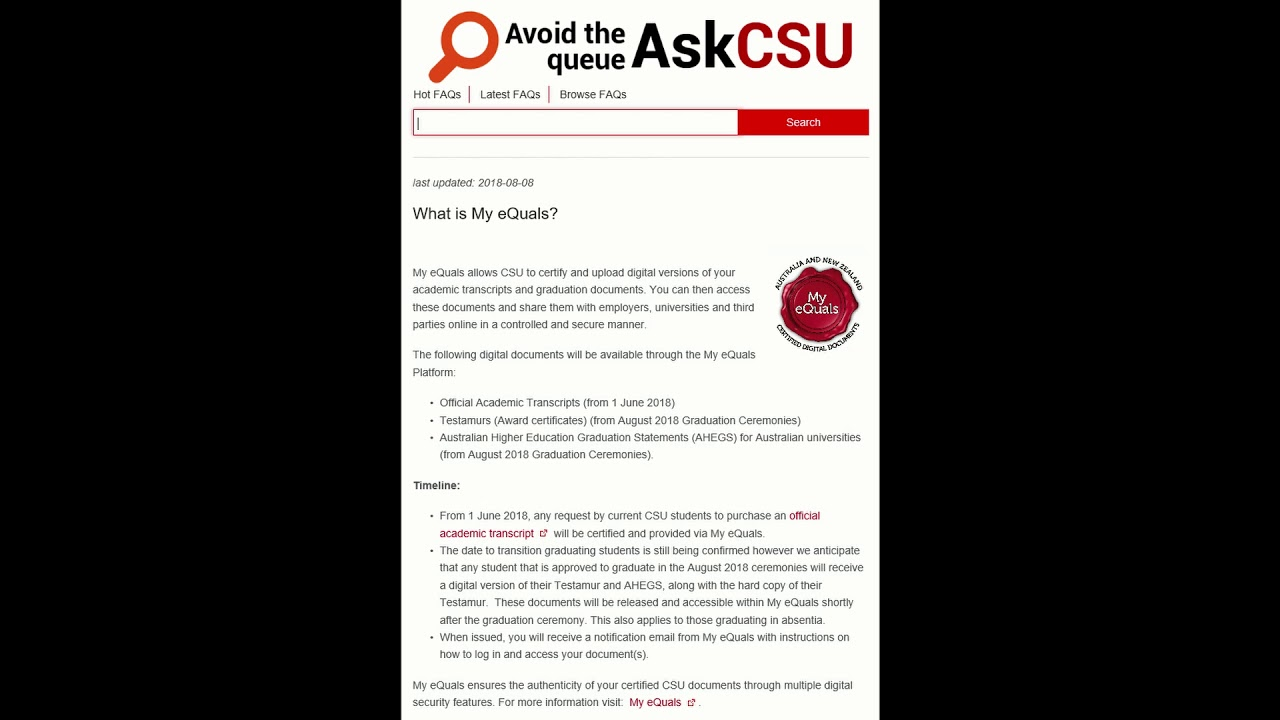 Students - My eQuals Digital Credentials
