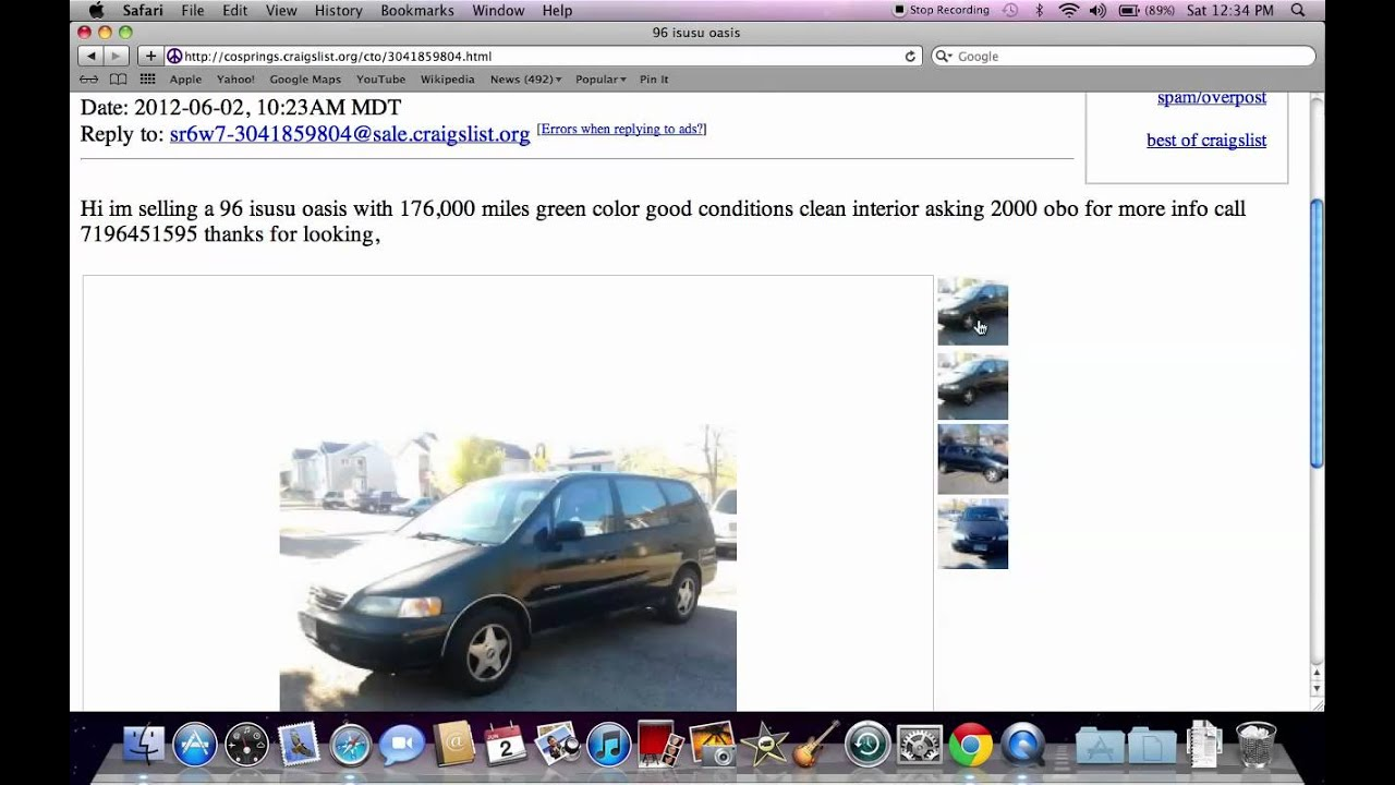 Craigslist Colorado Springs CO   Used Cars And Trucks For Sale By Owner In  2012   YouTube  Craigslist Greenville