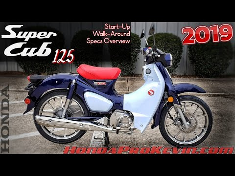 2019 Honda Super Cub 125 Review of Specs / Walk-Around