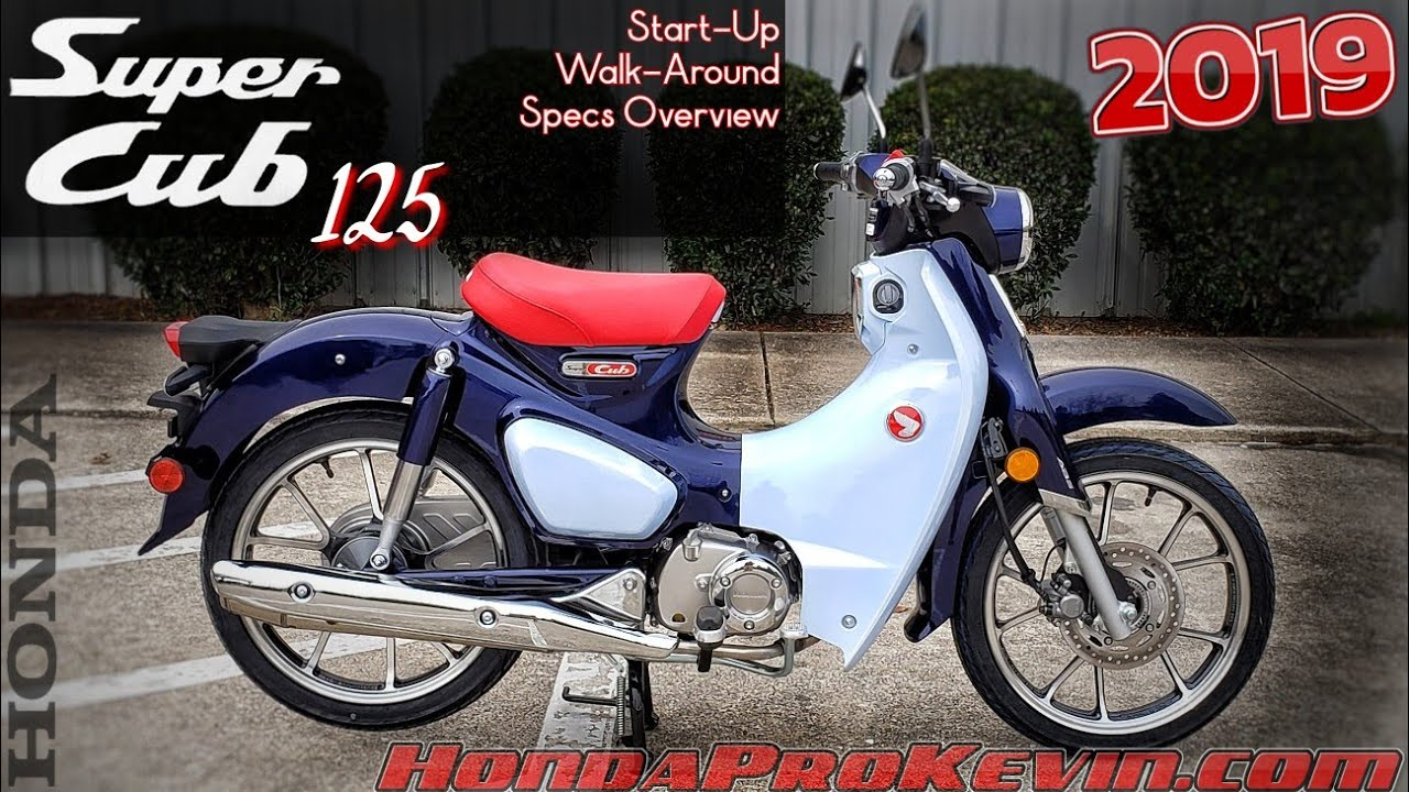 2019 Honda Super Cub 125 Review of Specs / Walk-Around | Automatic  Motorcycle / Scooter - C125