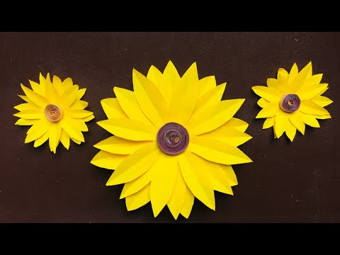 How to Make Sunflowers With Paper Making Flowers Full Tutorial Step by Step Beautiful Flowers