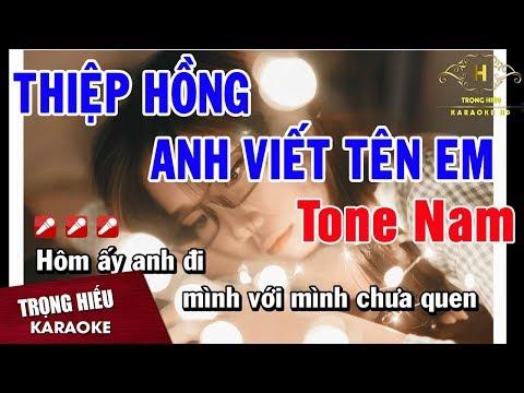 karaoke Thiệp Hồng Anh Viết Tên Em Thanh Le