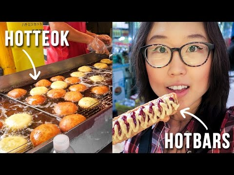 KOREAN STREET FOOD at Namdaemun Market ft. Hotteok