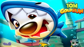 Shark Hank's Underwater Adventure 🦈 – Talking Tom Gold Run Catch the Raccoon Ep 2