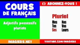 Französisch lernen = die Adjektive, die besitzergreifend = = Plural