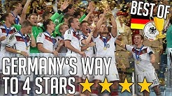Germany's Way To 4 Stars ✶ FIFA World Cup 2014 | BEST OF