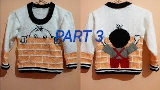 New knitting designer sweater for kids||Part 3/5||in hindi||