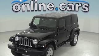 A96917TA Used 2016 Jeep Wrangler Unlimited Sahara 4WD Black Test Drive, Review, For Sale