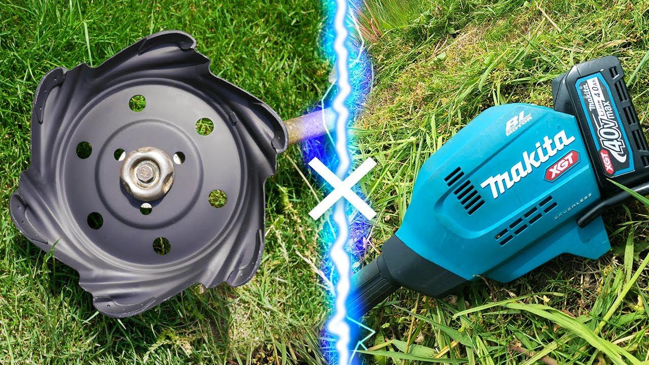 ブレードレスロータリーブレードを電動草刈りに付けて草刈りする【マキタ】