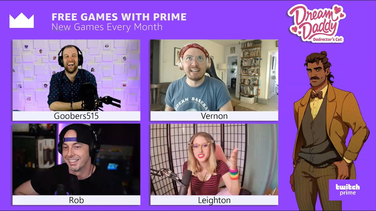 The Twitch Prime Show: Dream Daddy Interview with the Co-Creators!