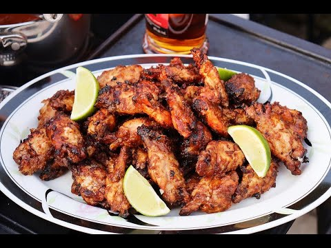 Pineapple Rum Jerk Wings #JulyMonthOfGrilling | CaribbeanPot.com