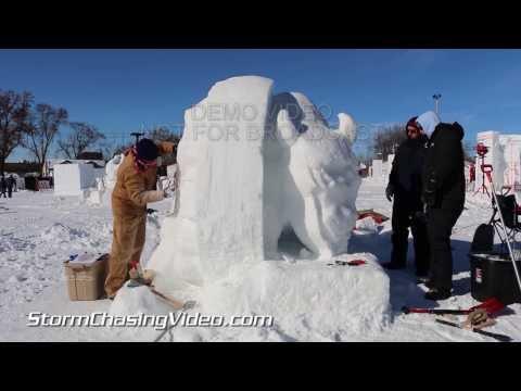 1/25/2014 Frigid Sub Zero Weather At St Paul MN Winter Carnival
