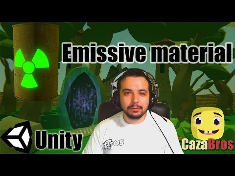 Emissive/Glowing effect on materials in Unity - YouTube