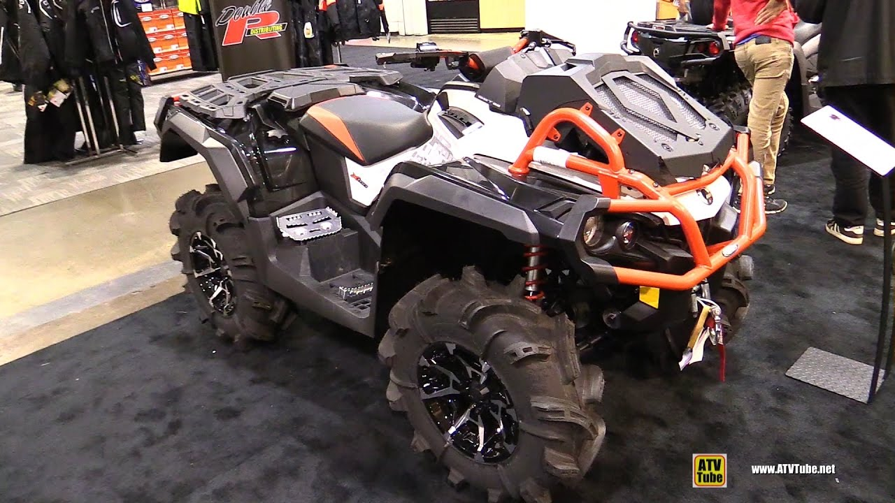 Can Am Outlander 2018 >> 2017 Can Am Outlander X mr 1000R Recreational ATV - Walkaround - 2016 Toronto ATV Show - YouTube