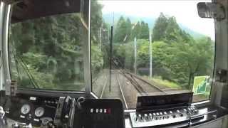 【前面展望】 叡山電車鞍馬線 出町柳→鞍馬 【広角120°】