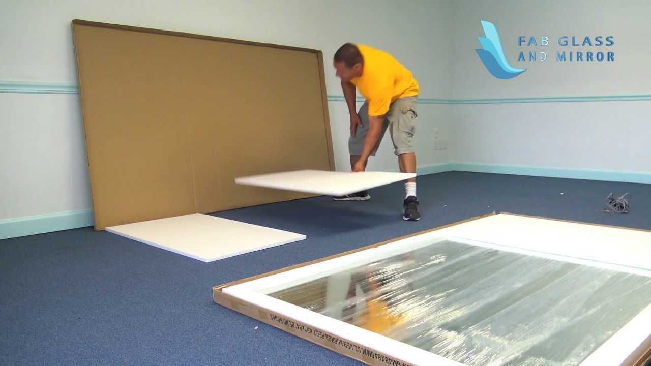 Gym mirror installation step by from fab glass and