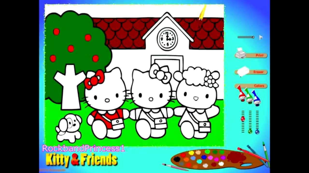 Hello Kitty Coloring Pages - Coloring Pages For Kids - YouTube