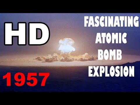HD fascinating atomic bomb explosion code name Priscilla in color film
