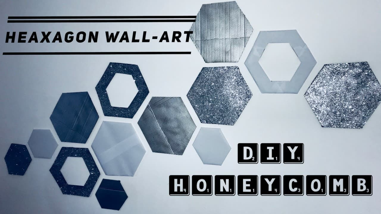 Hexagon Wall Art Honeycomb Decor