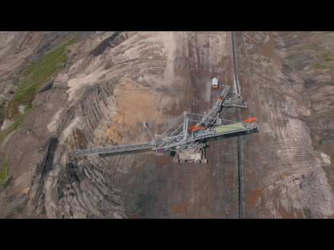 Coal Mine, Aerial video, Kleszczow, Poland