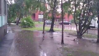 Наводнение. Улица Шостаковича 5к5. 17.07.2015.