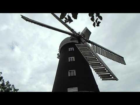 5 sail traditional and original windmill at Alford Lincolnshire England UK